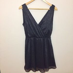 Banana Republic Petite Black Sparkly Mini Dress